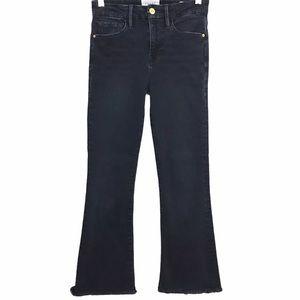 Frame Le Crop Mini Boot Frayed Hem Jeans